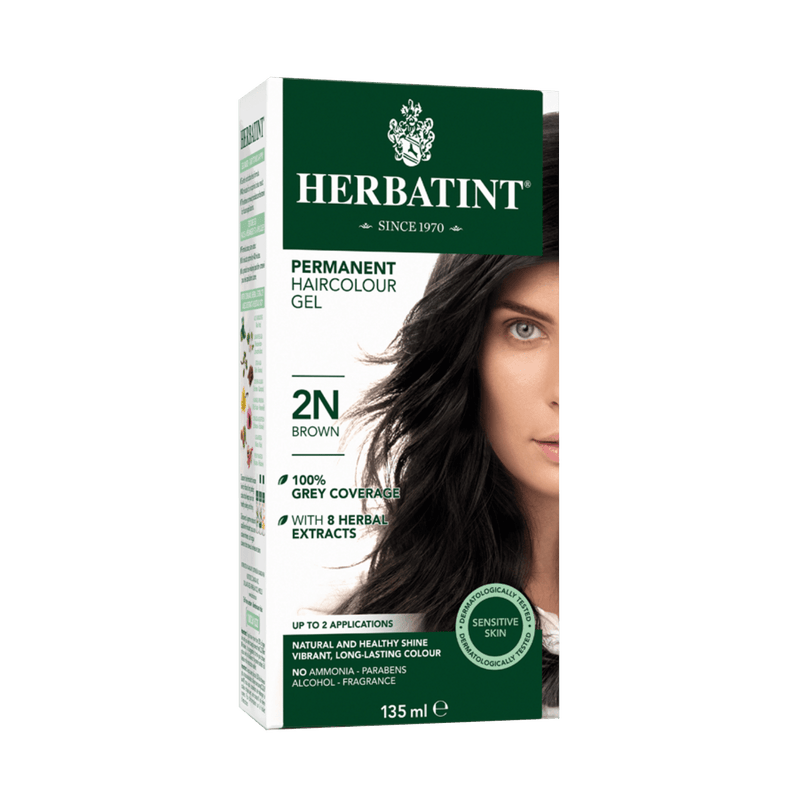 Herbatint Permanent Haircolour Gel 2N - Brown 135ml - Maple House Nutrition Inc.