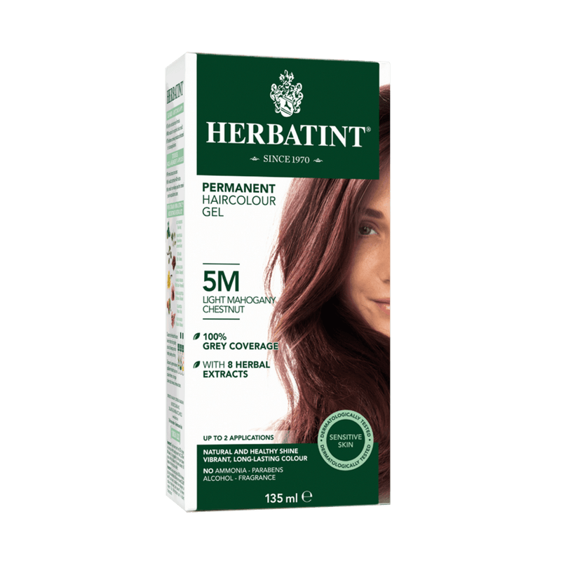 Herbatint Permanent  Haircolour Gel 5M -Light Mahogany Chestnut 135ml - Maple House Nutrition Inc.