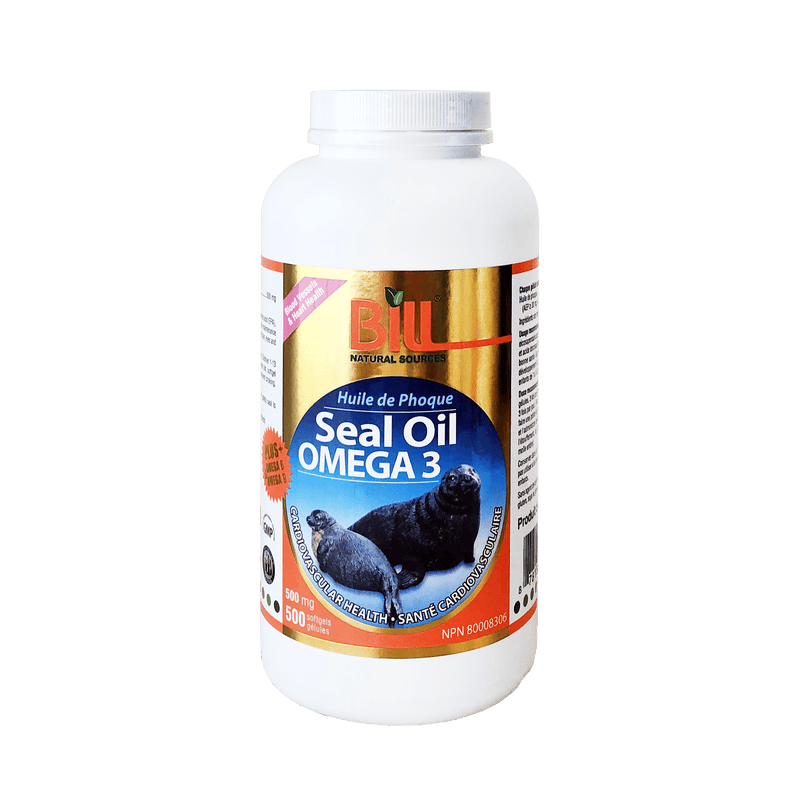 Bill Seal Oil 500mg 500 Softgels - Maple House Nutrition Inc.