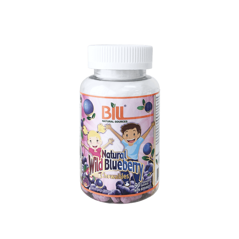 Bill Natural Wild Blueberry 90 Chewable Tablets - Maple House Nutrition Inc.