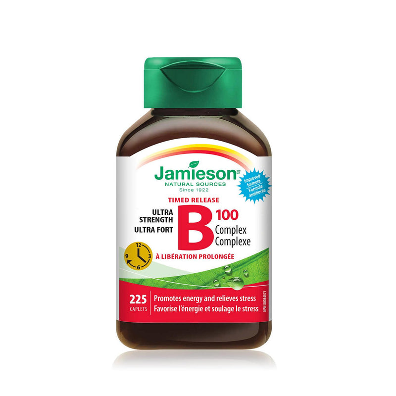 Jamieson B100 Ultra Strength 225 Caplets - Maple House Nutrition Inc.