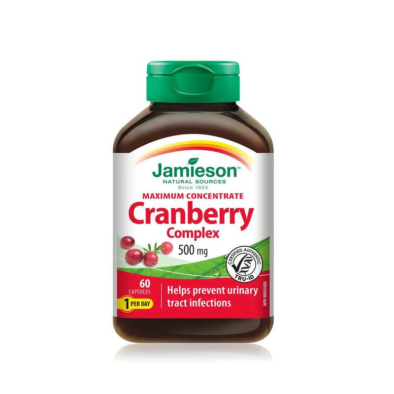 Jamieson Cranberry Complex 60 Caplets - Maple House Nutrition Inc.