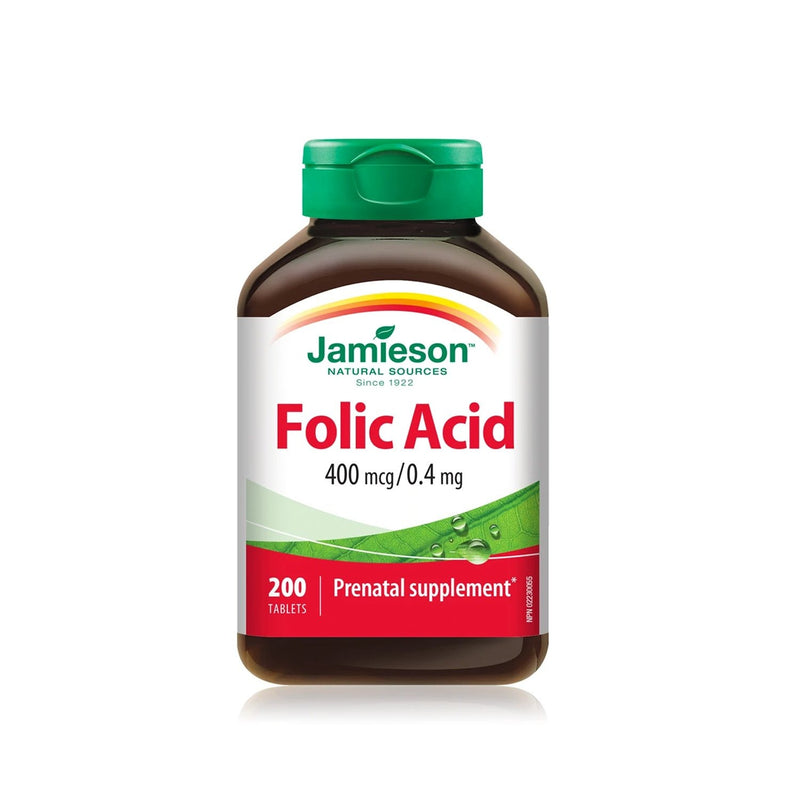 Jamieson Folic Acid 0.4mg 200 Tablets - Maple House Nutrition Inc.