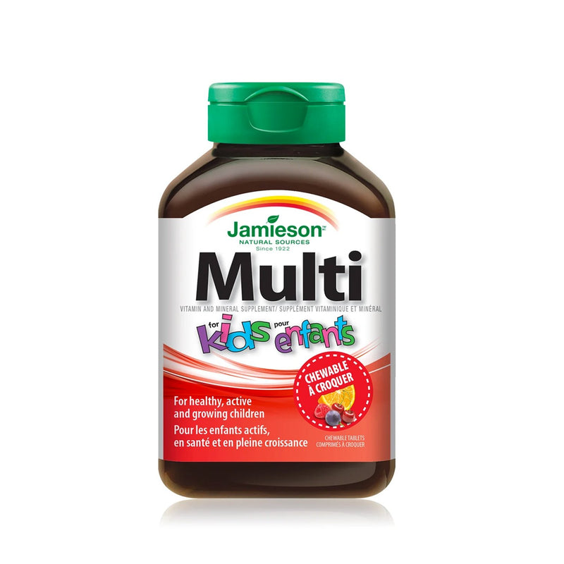 Jamieson Multivitamin for Kids 60 Chewable Tablets - Maple House Nutrition Inc.
