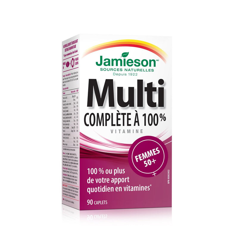 Jamieson 100% Complete Multivitamin for 50+ Women 90 Caplets - Maple House Nutrition Inc.