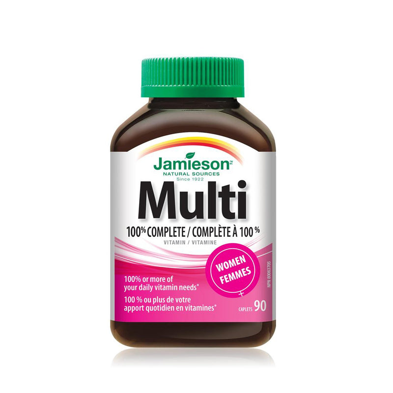 Jamieson 100% Complete Multivitamin for Women 90 Caplets - Maple House Nutrition Inc.