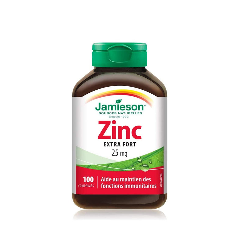 Jamieson Zinc 25mg 100 Tablets - Maple House Nutrition Inc.