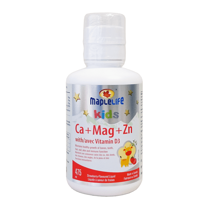 Maple Life Calcium Magnesium and Zinc + Vitamin D for Kids 475ml - Maple House Nutrition Inc.