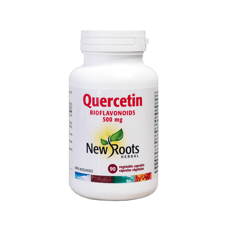 New Roots Herbals Quercetin 500mg 90 Vegetarian Capsules - Maple House Nutrition Inc.