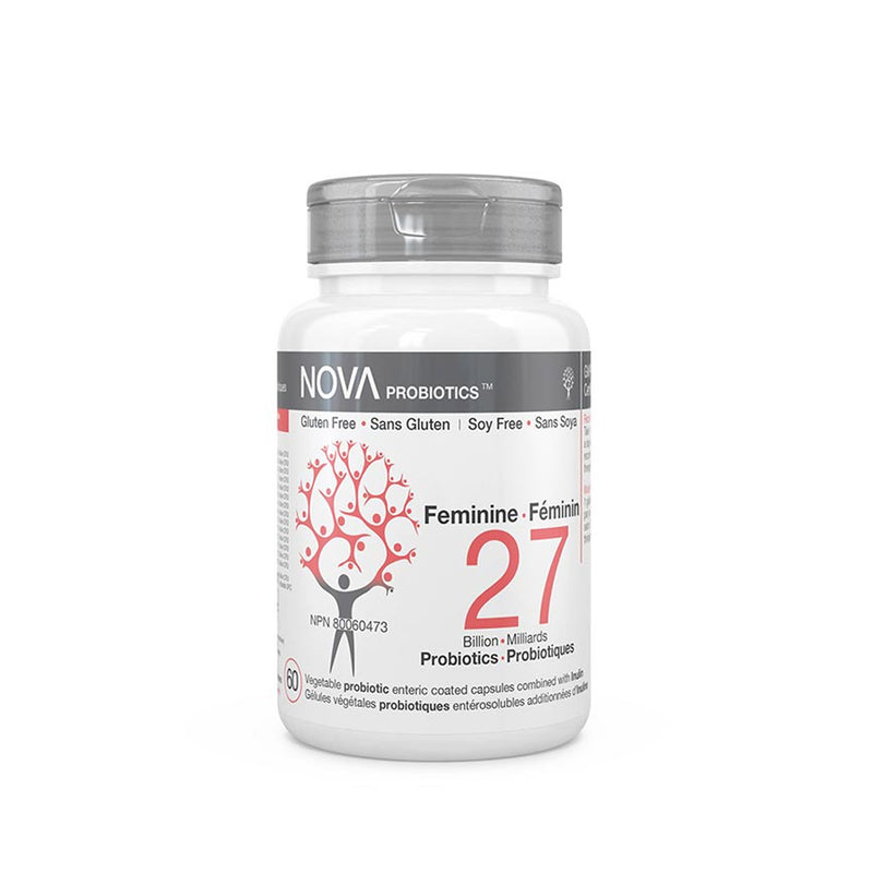 Nova 27 Billion Probiotics Feminine Formular 60 Capsules - Maple House Nutrition Inc.