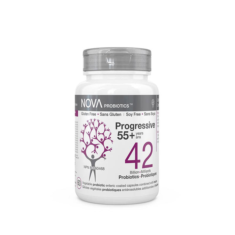 Nova 42 Billion Probiotics  Progressive 55+ Years Old 60 Capsules - Maple House Nutrition Inc.