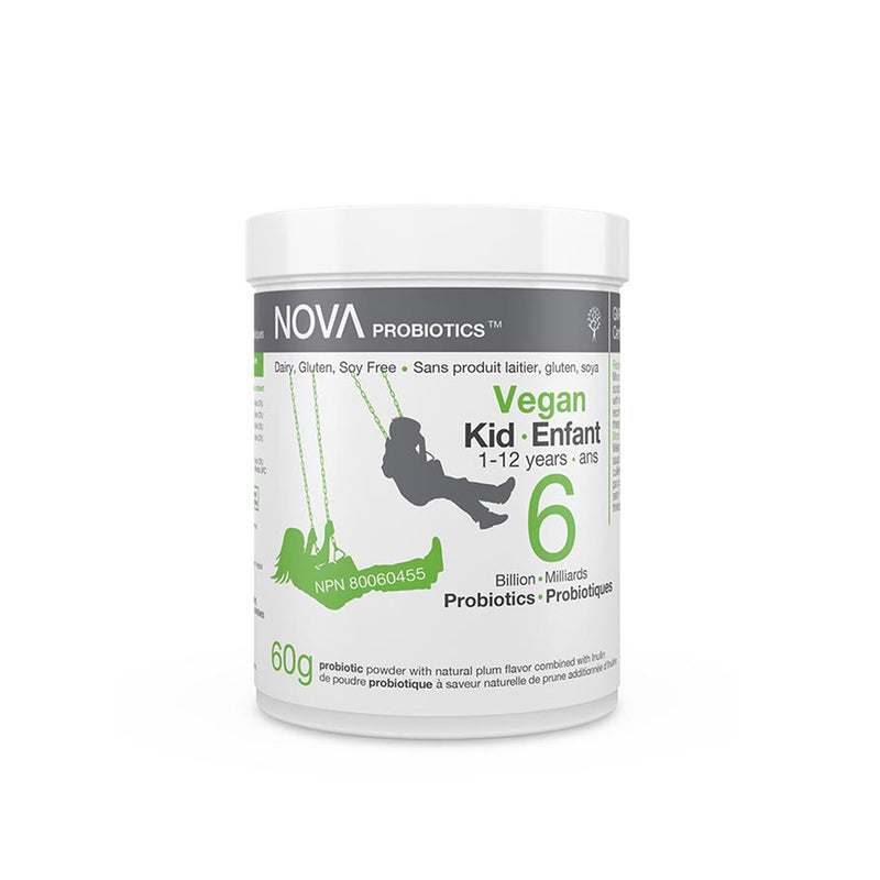 Nova 6 Billion Probiotics  Vegan Kids 1-12 Years 60g - Maple House Nutrition Inc.
