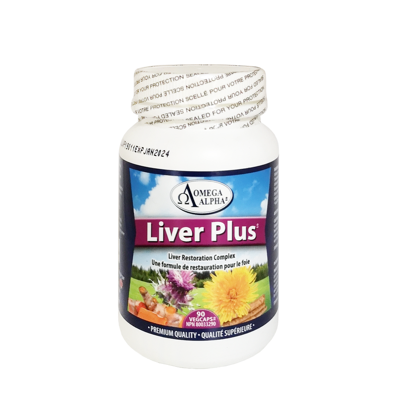 Omega Alpha Liver Plus 90 Vegetarian Capsules - Maple House Nutrition Inc.