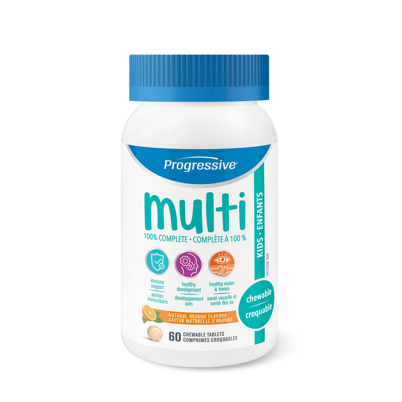 Progressive MultiVitamins For Kids 60 Chewable Tablets - Maple House Nutrition Inc.