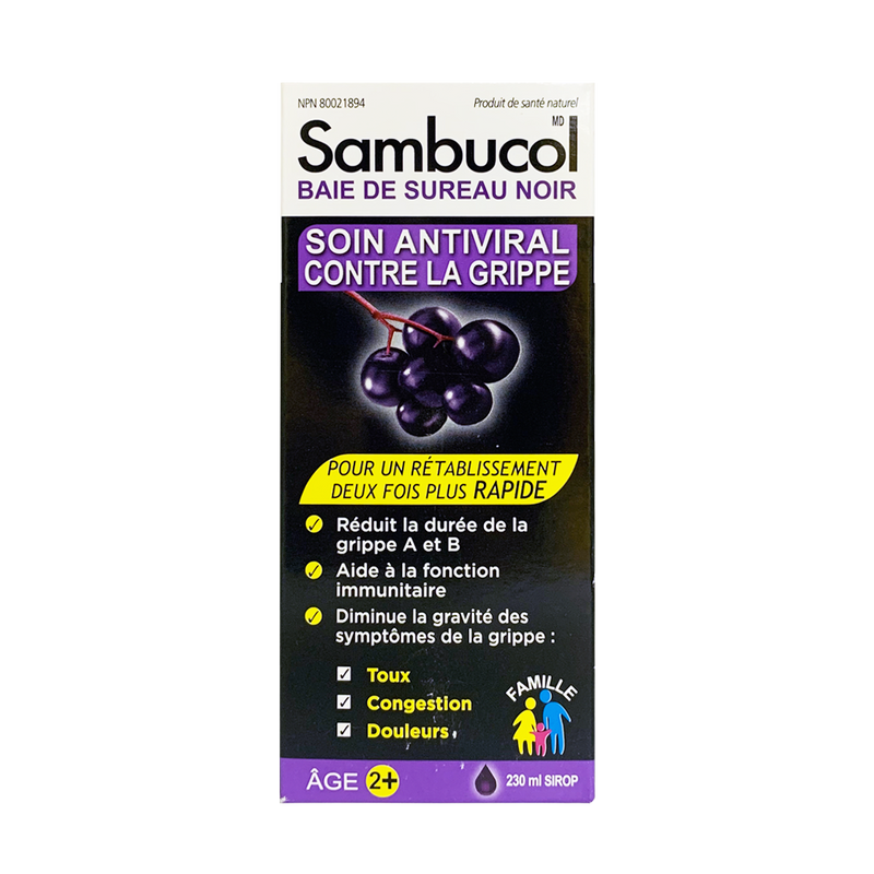 Sambucol Black Elderberry Anti-Viral Flu Care 230mL - Maple House Nutrition Inc.