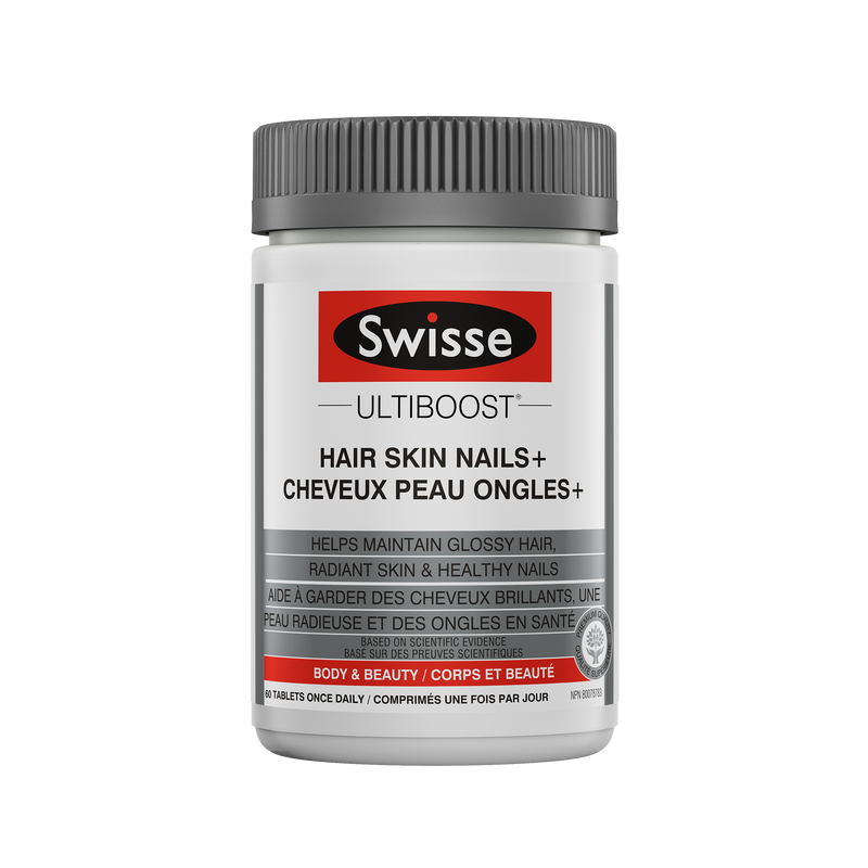 Swisse Ultiboost Hair Skin Nails Plus 60 Tablets - Maple House Nutrition Inc.