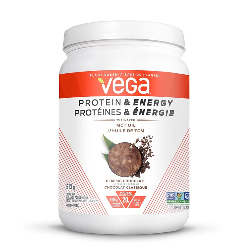 Vega Protein & Energy Classic Chocolate Flavoured 513g - Maple House Nutrition Inc.