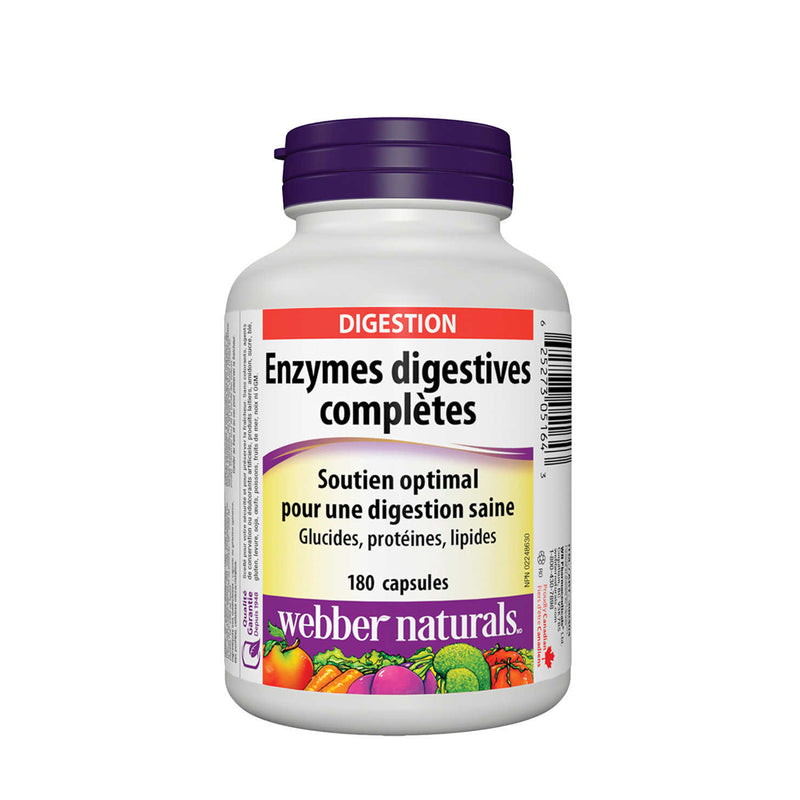 Webber Naturals Complete Digestive Enzymes 180 Capsules