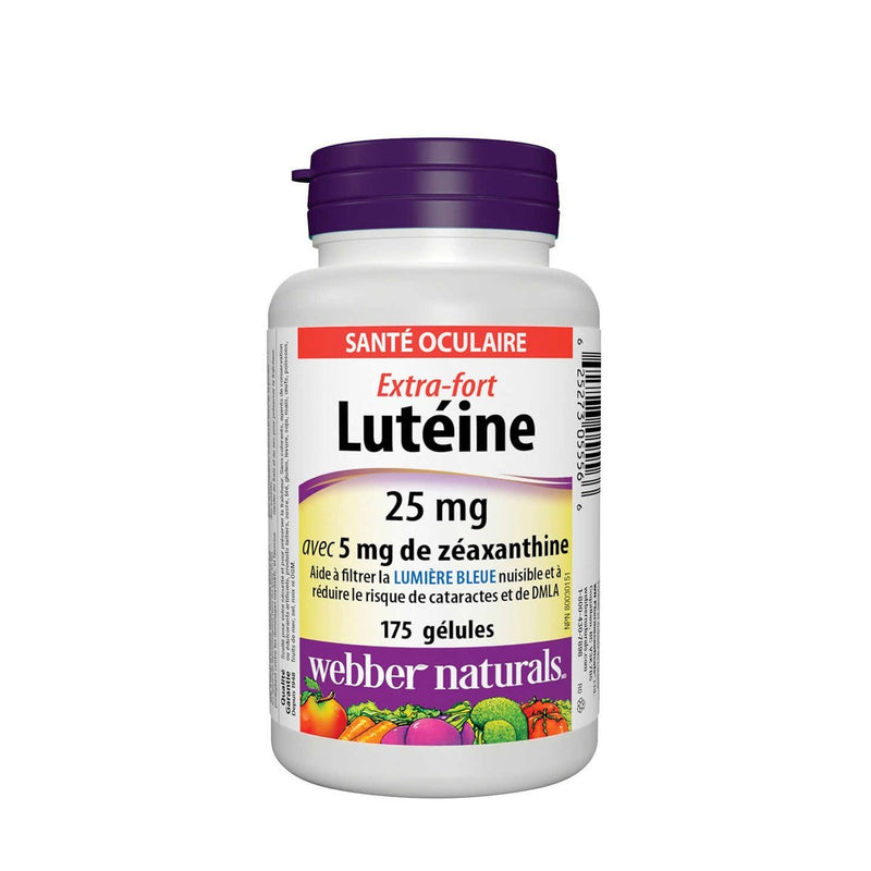 Webber Naturals Lutein 25mg 175 Softgels - Maple House Nutrition Inc.