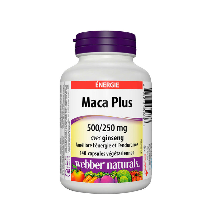 Webber Naturals Maca Plus 500/200mg with Ginseng 140 Vegetarian Capsules