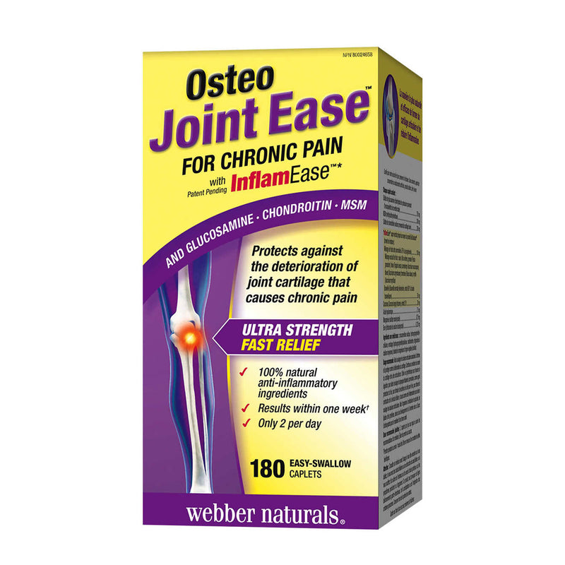 Webber Naturals Osteo Joint Ease with InflamEase 180 Caplets - Maple House Nutrition Inc.