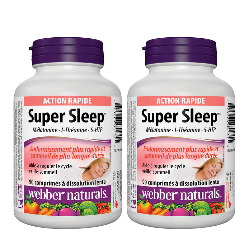 Webber Naturals Super Sleep 90 Soft Melt Tablets 90 Counts 2 Packs - Maple House Nutrition Inc.