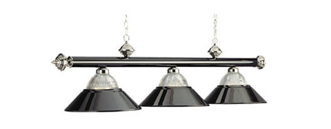 Metal Shades Billiard Light: B48-RIB BKCH/CH