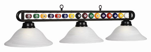 Glass Shades Billiard Light: BB-55 MB/WH