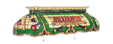 Stained Glass Billiard Light: CF50 BILLIARDS