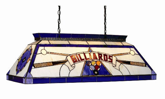 Stained Glass Billiard Light: CF BILLIARD BLU