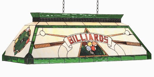Stained Glass Billiard Light: CF BILLIARD GRN