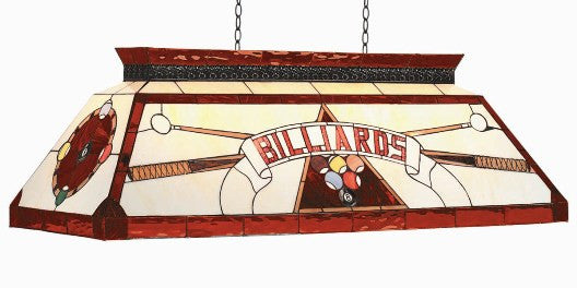 Stained Glass Billiard Light: CF BILLIARD RED