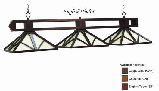 Stained Glass Billiard Light: CHA-B56 ET