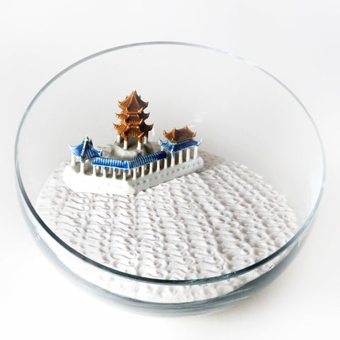 Pagoda Lost in the Zen Garden (Discounted)