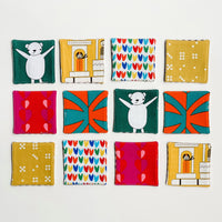 Lilla Barn Clothing Sustainable Fabric Memory Game for kids