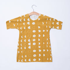 Toddler Dolman Dress - Moons