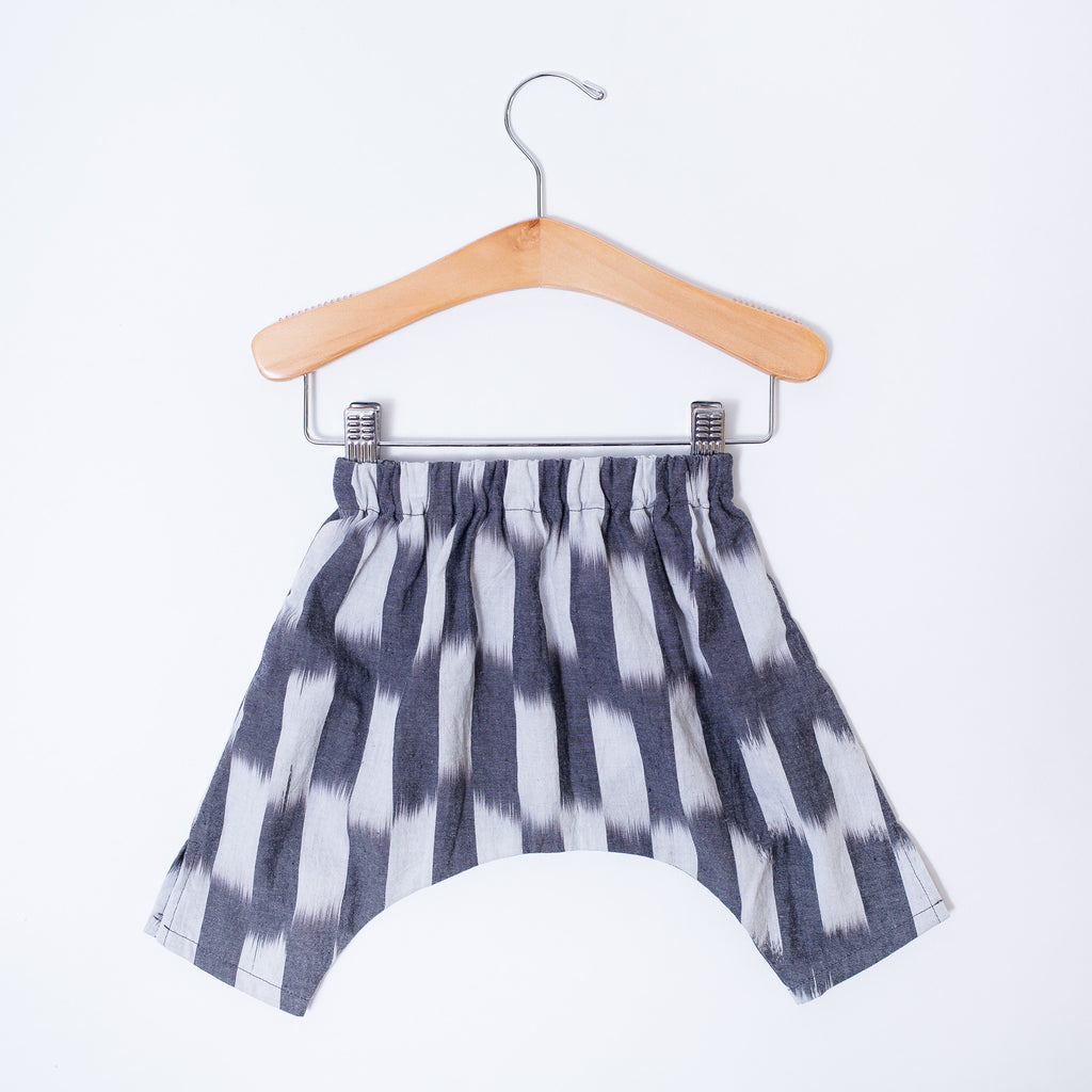 Infant & Toddler Ninja Pants - Gray Ikat