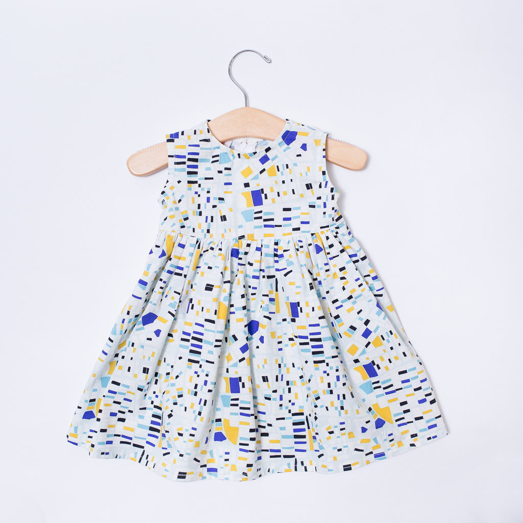 Infant & Toddler Dress - City Blocks