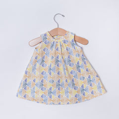 Infant Sleeveless Dress - Abstract