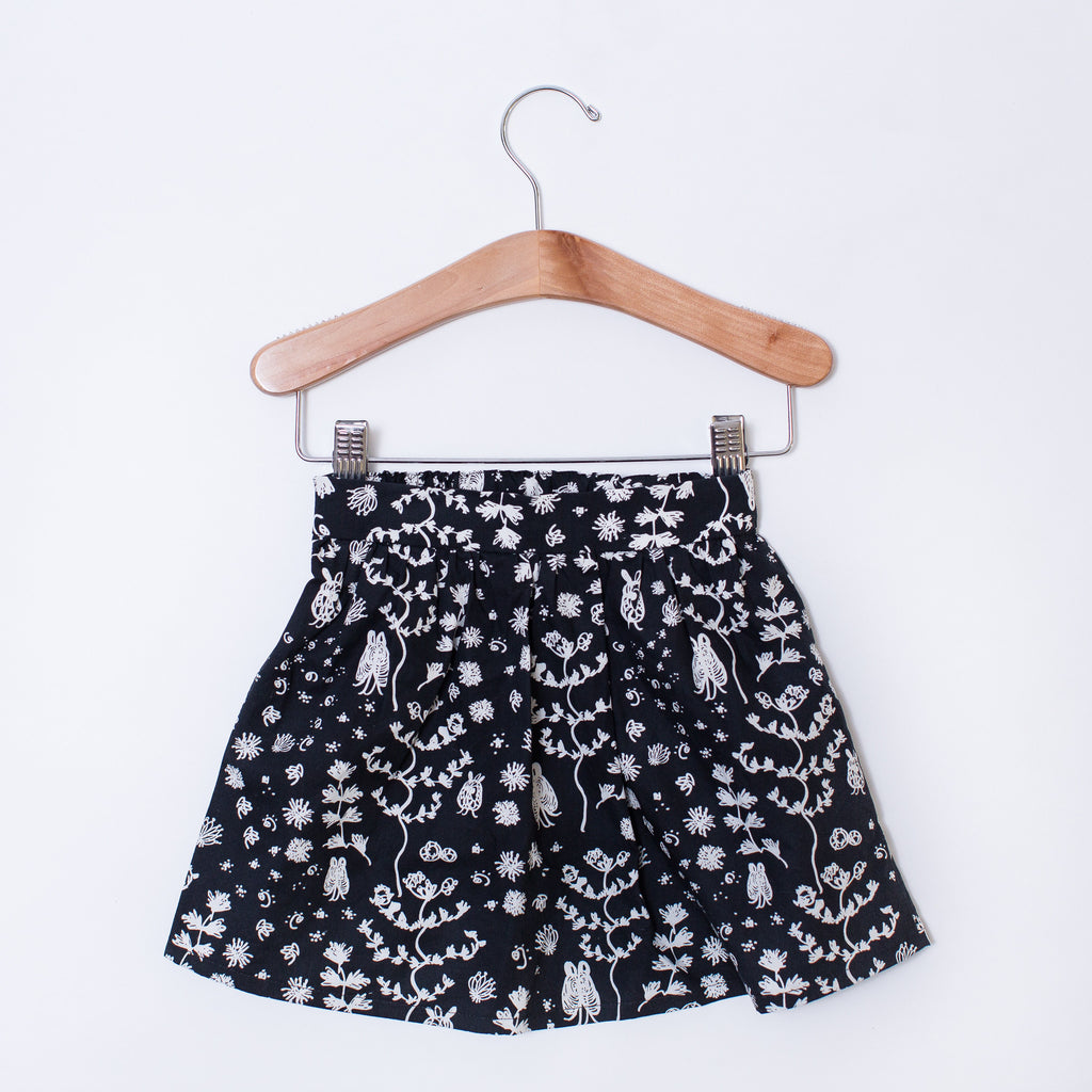 Toddler Skirt - Illustrated Floral