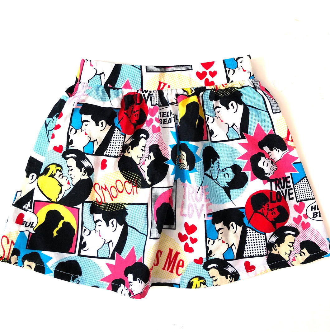Toddler Skirt - Kiss Me - 3T