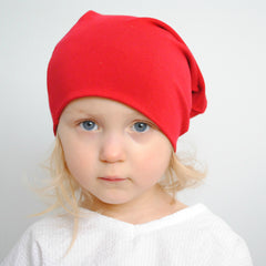 Infant & Toddler - Red Slouchy Beanie