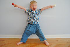 Toddler Ninja Pants -  Denim