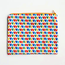 Load image into Gallery viewer, Lilla Barn Clothing Reusable fabric pouch with colorful hearts