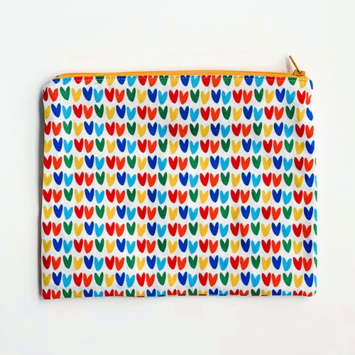 Lilla Barn Clothing Reusable fabric pouch with colorful hearts