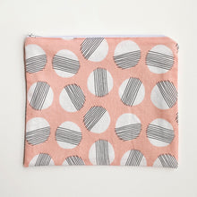 Load image into Gallery viewer, Lilla Barn Clothing Reusable fabric zipper pouch pink