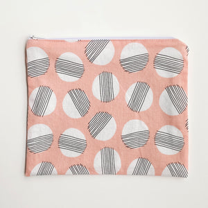 Lilla Barn Clothing Reusable fabric zipper pouch pink