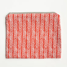 Load image into Gallery viewer, Lilla Barn Clothing Reusable Fabric Red Zipper Pouch