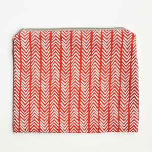 Lilla Barn Clothing Reusable Fabric Red Zipper Pouch
