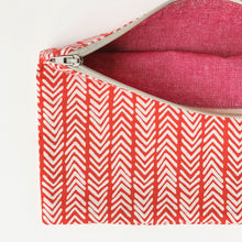 Load image into Gallery viewer, Lilla Barn Clothing Reusable Fabric Red Zipper Pouch fully lined
